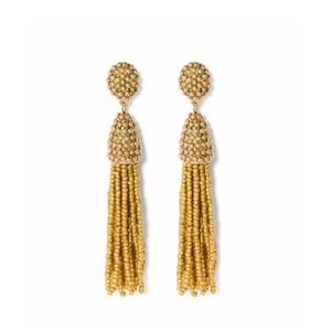NWOT Sugarfix Gold Tassel Statement Earrings